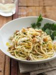 Friday-Crab Spaghetti w/Lemon Gremolata.